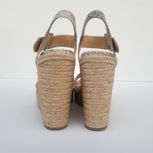 0894d75ee86 Delicious Shoes - Faux Snakeskin Straw Wedges